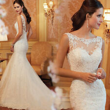 NEW Fashion Hot Lace Wedding Dress Bridal Gown stock Size2 4 6 8 10 12 14 16.