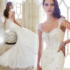 Fashion Hot Lace Wedding Dress Bridal Gown customized Size2 4 6 8 10 12 14 16