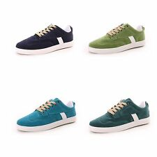 New Faux Suede Round Toe Two Layer Laced Up Men Casual Sneaker Shoe Multi Colors
