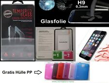 9H Panzerglas Display Schutzglas Tempered Glass Folie Echt Glas +Gratis Hülle PP