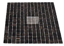 Black/Brown With Golden Glitter-Stripes Mosaic Tile for Backsplash -SAMPLE