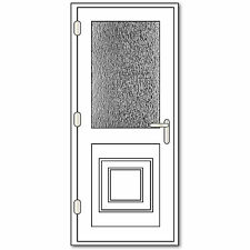 White uPVC Single Door