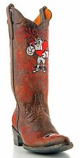 Womens Cowboy Boots University Of Georgia Gameday Boots Bulldogs Brown