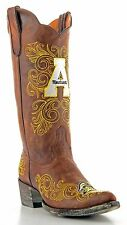 GameDay Women's Cowboy Boots Appalachian State University Mountaineers Leather