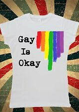 Gay Is OK Rainbow Colourful Tumblr Women T-Shirt Vest Tank Top W1035