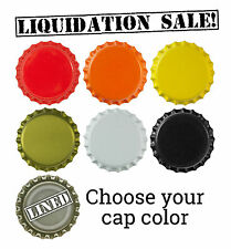 50 NEW Bottle Caps for Brewing Homebrewing Lined Crowns Liquidation Sale