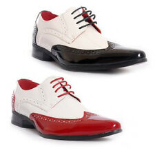 Mens Gangster Shoes Brogue Patent Jazz Spats