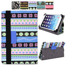 "C Tribal Canvas Adjustable Folding Folio Cover & Touch Guard fits 7"" Tablet-s"
