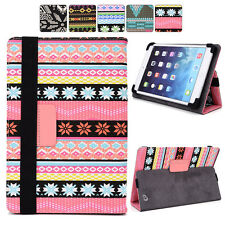"I Tribal Canvas Adjustable Folding Folio Cover & Touch Guard fits 10.1"" Tablet-s"