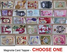 Magnolia Card Toppers-SET 2 -  assorted sizes for cards/pages-Choose One