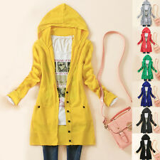 New Womens Knitted Hooded Sweater Long Sleeve Knitwear Cardigan Coat Outwear Top