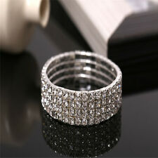 Shining Crystal Rhinestone Stretch Bracelet Bangle Wedding Bridal Wristband