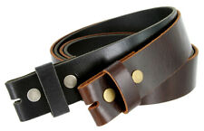 "BS103 Vintage Oil Tanned Genuine Leather Belt Strap 1-1/2"" Wide, Black Brown"
