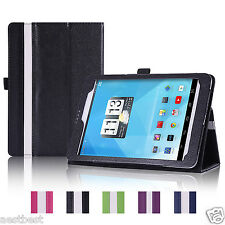 "Leather Case Cover For 7.85"" TRIO AXS 4G G4 Android Tablet BWHW"