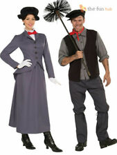 Adult Ladies Mens Victorian Nanny Chimney Sweep Bert Fancy Dress Costume Book