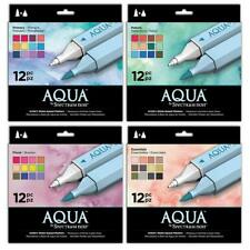 SPECTRUM AQUA ARTIST'S WATERCOLOUR MARKERS PENS BY CRAFTERS COMPANION CDROM NOIR