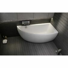 Offset Corner Bath *NANO* SPACE SAVER 1500 x 750mm with Front Panel and Legs