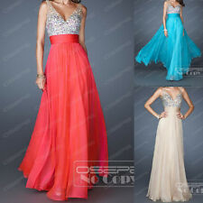 Straps Long Party Cocktail Prom Ball Gown Bridesmaid Evening Dresses Size 6-16