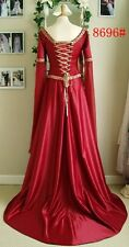 Game of Thrones Style Renaissance Red Dress  S,M,L,XL  NEW