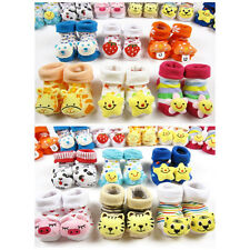 Newborn Cartoon Baby Kids Girl Boy Toddler Anti-Slip Warm Socks Shoes 6-18months