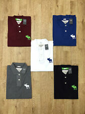 Abercrombie and Fitch Men's Short Sleeve Polo 'Muscle Fit' Big Moose Hollister