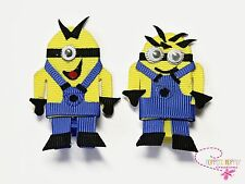 Minion /Despicable Me Ribbon  clip/bow.  You Choose Minion. SO CUTE!