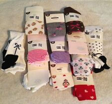 NWT/NWOT Infant/Baby Girls Old Navy Knit Tights Hearts/Bows/Anchors/Stripes