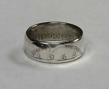 Coin ring handmade from 1964 silver KENNEDY US HALF DOLLAR sizes  9-14