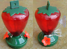Hummingbird Feeder Hanging or Window Mount Strawberry Shape American Made In USA