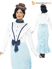 Ladies Victorian Edwardian Womens Fancy Dress Costume Mary Poppins Book Week