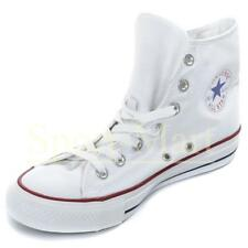 Mens, Womens Converse All Star Hi  White Canvas Pumps Trainers Mens Size