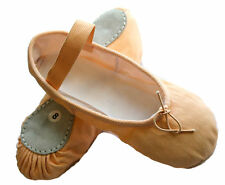 Ballet Dance Canvas Shoes, Split Sole Leather with elastics. All Sizes