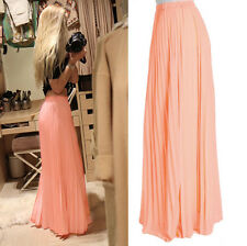 CelebStyle Coral Chiffon Pleated Maxi Skirt  - To The MAX
