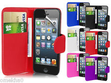 Magnetic Wallet Flip Book Holder Leather Pu Case Cover For Apple iPhone 4 4G 4S