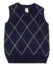 GYMBOREE Spring Dressy Easter Navy White Argyle Sweater Vest 18 24 m 4 5 6 NWT