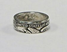 """Coin ring """"Handmade"""" from WALKING LIBERTY  Silver  Half Dollar   in size 9-14"""