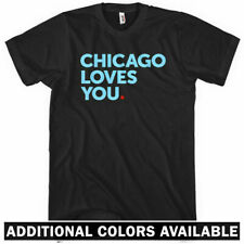 Chicago Loves You T-shirt - Cubs Chi-Town Sox Bulls Hawks - Men / Kids - XS-4XL