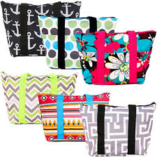 Lunch Bag Thermal Insulated Food Cooler Hand Tote Print Pattern Design Color New
