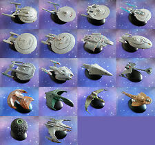 STAR TREK EAGLEMOSS DIE CAST MODEL STARSHIP COLLECTION LOT SHIPS FIGURES