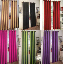2 PANELS SILK BLACKOUT THERMAL GROMMET FOAM LINED WINDOW CURTAIN DRAPE WH#