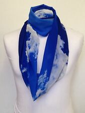 CLOUDS INFINITY SCARF JERSEY & CHIFFON UNISEX FASHION PRINTED LOOP SCARVES