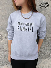 *PROFESSIONAL FANGIRL éventail Fille Slogan Humour Pull Sweat 1D One Direction