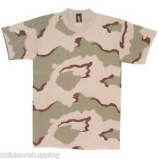 Multi-Color Desert Camouflage SHORT SLEEVE T-SHIRT - USA Made, Comfortable Tee