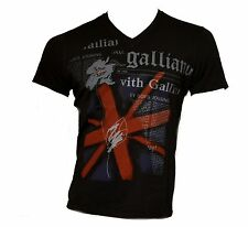 John Galliano T-shirt Made in Italy Cotton 100% Men Gazette Mens Nwt Black