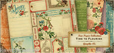 Graphic 45 Time to Flourish 12x12 Scrapbooking Paper Pages