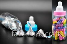 48 Baby Shower Bottles Fillable Favors Blue Pink Party Decorations  Girl Boy