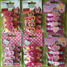 Haargummi * Set 4tlg * Disney * Minnie Mouse * Princess Prinzessin * Hello Kitty