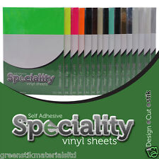 5 A4 Self Adhesive Speciality Sticker Vinyl Label Art Sheets - Cameo & Portrait
