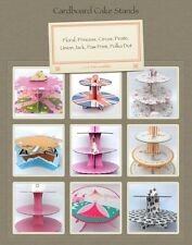 Cake stands. Floral, dot, circus, pirate, princess, paw print, Union Jack