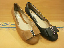 New Ballerina Flat Womens Lady Ballet Shoes Black/Brown Pumps All Sizes 5-10